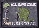 All Gave Some Some Gave All Soldiers Cross Patch
