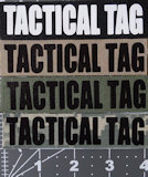 4x1 Tactical Tag with Velcro