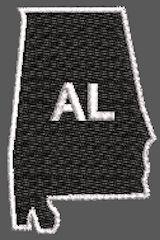 United States Alabama Full Embroidered