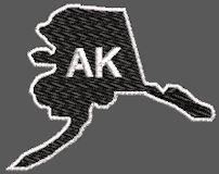 United States Alaska Full Embroidered