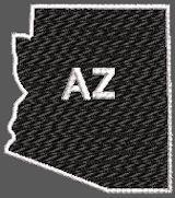 United States Arizona Full Embroidered