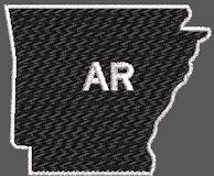 United States Arkansas Full Embroidered