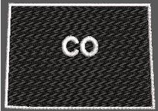 United States Colorado Full Embroidered