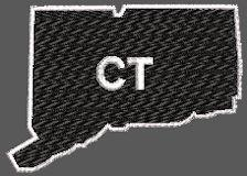 United States Connecticut Full Embroidered