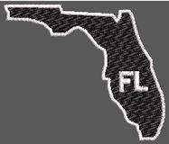 United States Florida Full Embroidered