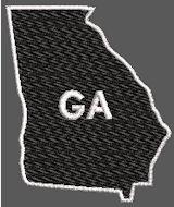 United States Georgia Full Embroidered