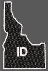 United States Idaho Full Embroidered