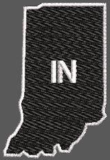 United States Illinois Full Embroidered