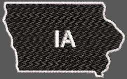 United States Iowa Full Embroidered