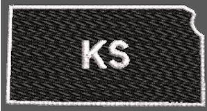 United States Kansas Full Embroidered