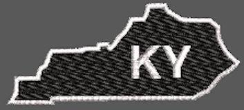 United States Kentucky Full Embroidered