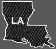 United States Louisiana Full Embroidered