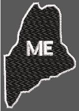United States Maine Full Embroidered