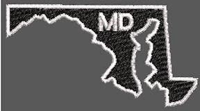 United States Maryland Full Embroidered