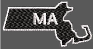 United States Massachusetts Full Embroidered