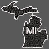 United States Michigan Full Embroidered
