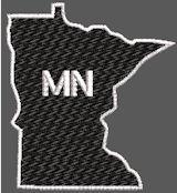 United States Minnesota Full Embroidered
