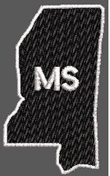 United States Mississippi Full Embroidered