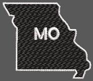 United States Missouri Full Embroidered