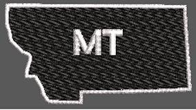 United States Montana Full Embroidered