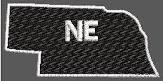 United States Nebraska Full Embroidered
