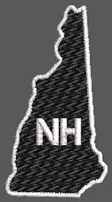 United States New Hampshire Full Embroidered