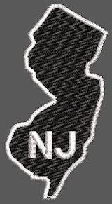 United States New Jersey Full Embroidered