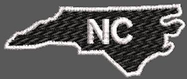 United States North Carolina Full Embroidered