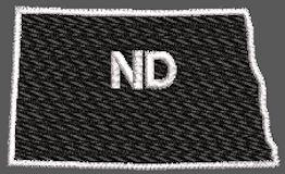 United States North Dakota Full Embroidered