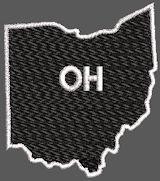 United States Ohio Full Embroidered
