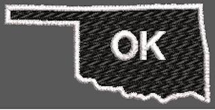 United States Oklahoma Full Embroidered