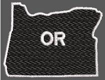 United States Oregon Full Embroidered