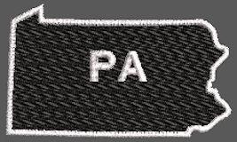 United States Pennsylvania Full Embroidered