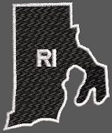 United States Rhode Island Full Embroidered