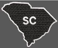 United States South Carolina Full Embroidered