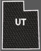 United States Utah Full Embroidered