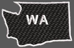 United States Washington Full Embroidered