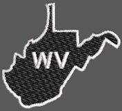 United States West Virginia Full Embroidered