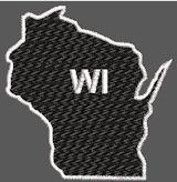 United States Wisconsin Full Embroidered
