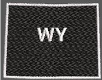 United States Wyoming Full Embroidered