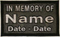 In Memory Of 2 Line High Grade Vinyl (HGV) Patch