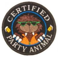 Certified Party Animal Patch Large